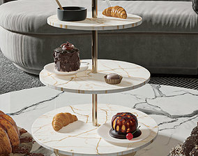 Marble cake stand - 3d model