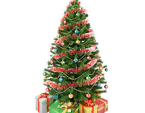 Christmas Tree and Gifts 3D model