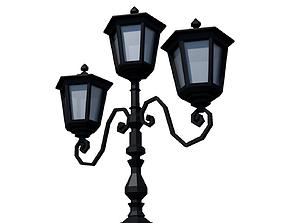 Streetlight Low-Poly Style 3D asset