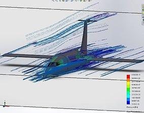 canard Jet flow simulation 3D model