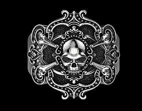 Pirate skull ring prototyping 3D print model