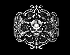 Pirate skull ring 3D print model