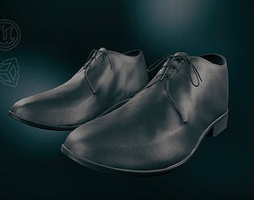 Black Leather Shoes 3D asset