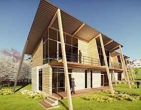 3D model ROW HOUSE at WEEKEND - 01