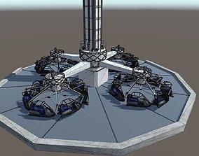 High Detail Fairground Ride 08 - Ikarus 3D model