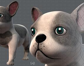 Dog base cartoonV03 3D asset