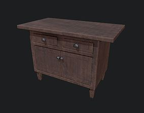 3D asset Wooden Drawers - Furniture - Wood Furniture - Two