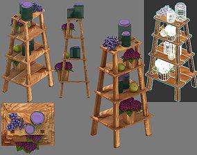 wooden stepladder 3D model