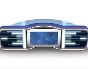 3D model Virtual TV Studio News Desk 5