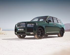 mid-poly Luxury SUV unbranded 3D
