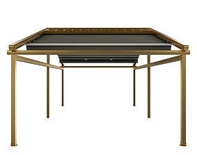 3D Motorized Pergola 5a brass furniture matte
