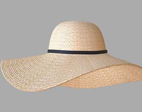 Straw sun hat 3D model PBR