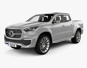 3D Mercedes-Benz X-class Stylish Explorer with HQ interior
