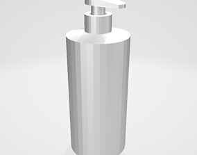 3D Low Poly Shampoo - Soap Bottle game-ready