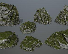 3D model forest rocks