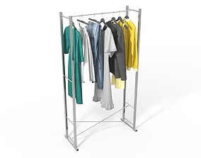 3D Clothes Set on a Hanger