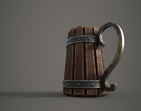 Medieval Beer Mug 3D model