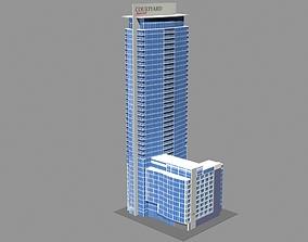 Marriott Courtyard Hotel Montreal 3D model