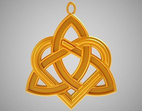 Celtic Heart Necklace 3D printable model
