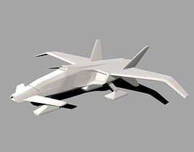 Spacecraft concept vehicle 3D print model