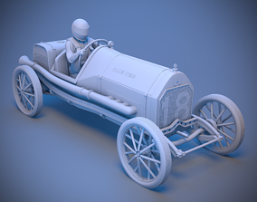 Car with driver 3D printable model