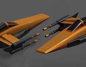 Spaceship starship futuristic spacecraft space 3D model 2