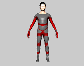 3D asset character 05 man people sci fi