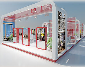 3D model panel Exhibition Stand 31