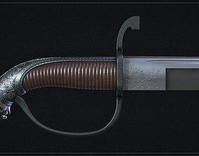 3D model VR / AR ready PBR sword