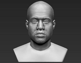Kanye West bust 3D printing ready stl obj formats