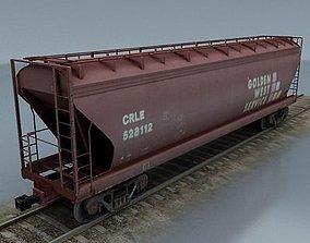 3D model rail wagon 2