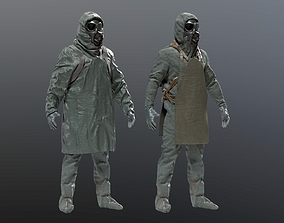 3D model HAZMAT SUIT Chernobyl Liquidator