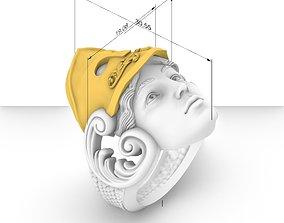 athena goddess ring version 3D printable model