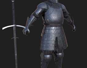 Knight medievel with claymore 3D model
