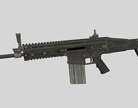 SCAR-H 3D asset game-ready PBR
