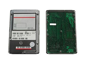 3D asset HDD Hard Drive Computer Part Memory Tech 2