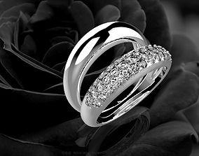 376 Double Diamond Ring For 3D print model