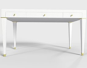 Claudette 3 Drawer Writing Desk 3D asset