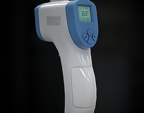 Infrared Thermometer 3D model low-poly
