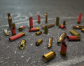 3D asset Crime Scenes - Cartridge Cases