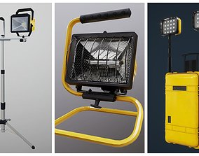 3D model Industrial Worklight Pack PBR