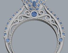 3D printable model Ring round diamond 2020 fashion