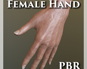 Female Hand PBR 3D asset low-poly