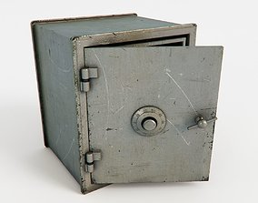 3D gray Safe box