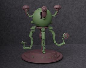 Fallout Robot Mr Handy 3D Print 3D model