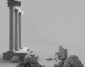 architecture 3D Damaged Pillars