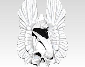 3D printable model Skull Snake Cobra Wings Pendant