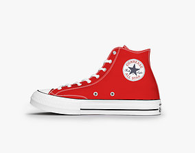 3D model converse all stars high red