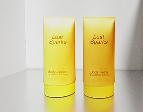 3D model Body wash and lotion bottle