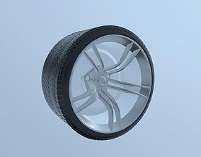3D Car Wheel Tire